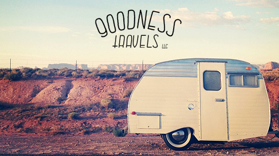 Vintage trailer rental from Goodness Travels
