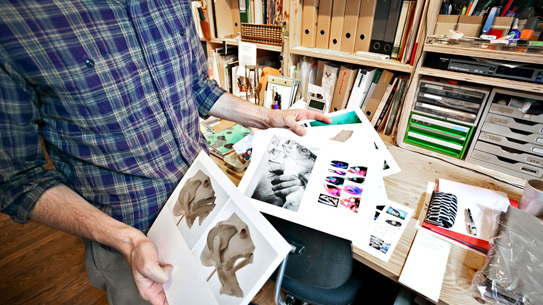 Mike Abelson in the Postalco studio