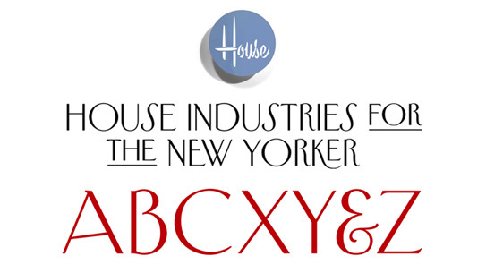 House Industries for The New Yorker