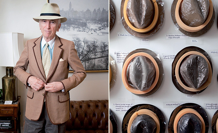 At home with writer Gay Talese and his hat collection