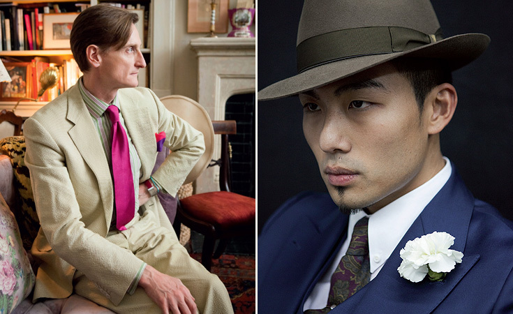 Left: Hamish Bowles, European editor-at-large for American Vogue; Right: Kevin Wang, graphic designer and partner at Hvrminn