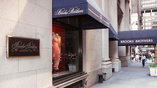 Brooks Brothers' Manhattan flagship.