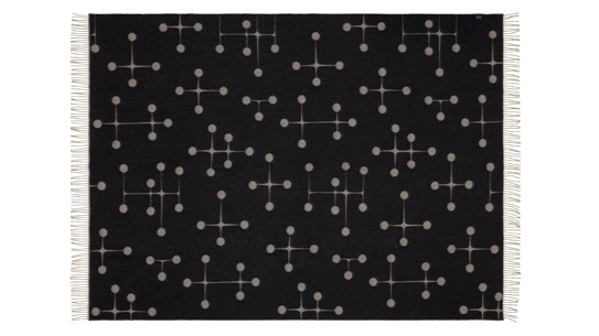 Vitra wool blanket designed with the Dot Pattern by the Eames