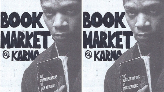 Book Market at Karma this weekend.