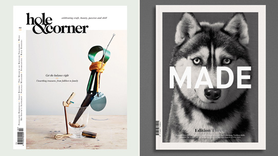 Hole & Corner issue two and the third issue of MADE Quarterly.