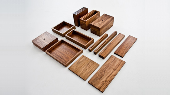 Custom kitchen tools made from solid American black walnut from OnOurTable.