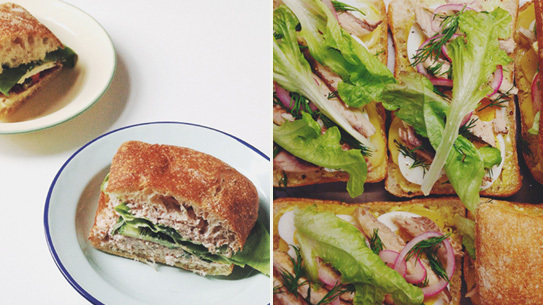 Feasting Never Stops at Lunch is a sandwich delivery service in Brooklyn