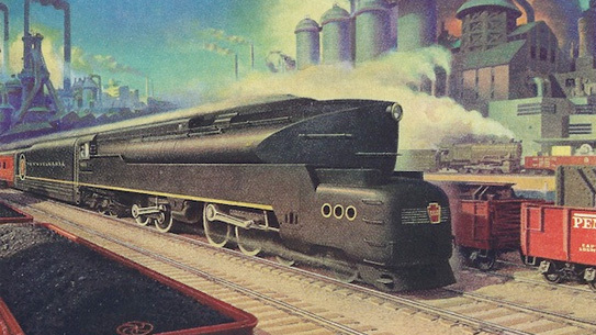 A postwar ad for the Pennsylvania Railroad.