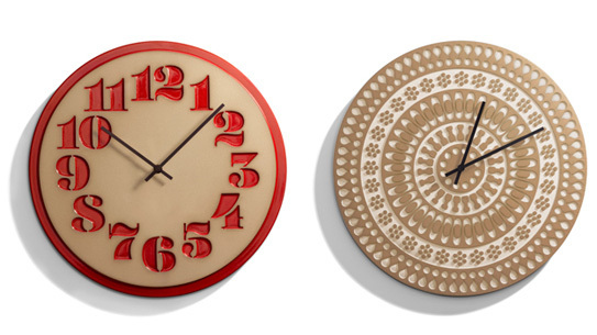House Industries and Heath Ceramics Clocks