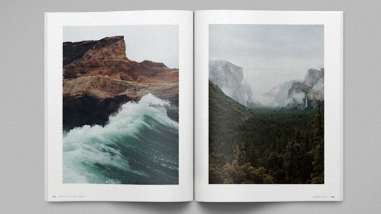 A spread from issue 0 of Collective Quarterly.