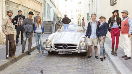 On location in Paris for Kapital's Spring 2014 collection.